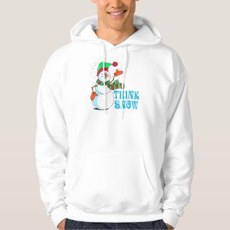 Festive Cartoon Snowman Hooded Pullovers