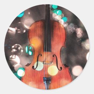 Festive Cello Sticker