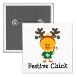 Festive Chick Button