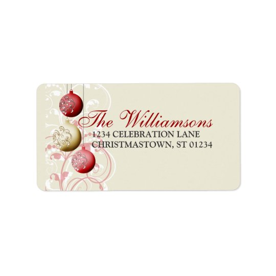 Festive Christmas Address Label