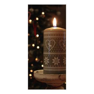 Festive Christmas candle tree lights menu