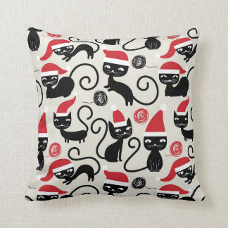 Festive Christmas cat lovers pillow