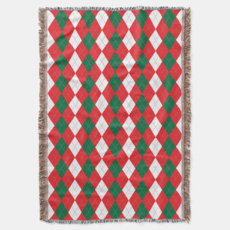 Festive Christmas Colours Throw Blanket