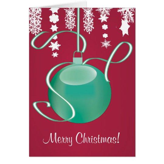 Festive Christmas Greeting Card