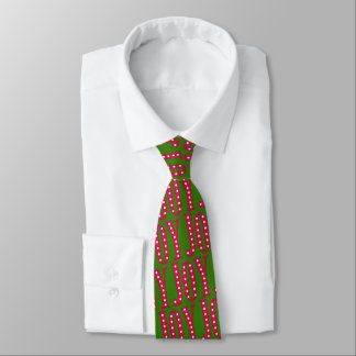 Festive Christmas Joy Red Green Holiday Tie
