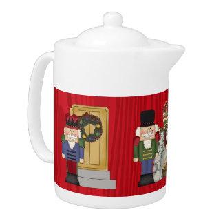 Festive Christmas nutcracker serving pot