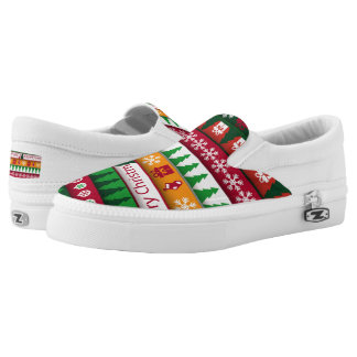 Festive Christmas pattern womens shoes