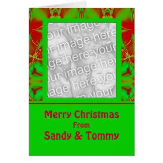 Festive Christmas Photo Frame Greeting Card