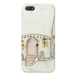 Festive Christmas scene iPhone 5/5S Cases