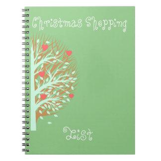 Festive Christmas Shopping Notebook