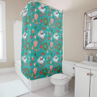 Festive Christmas Shower Curtain