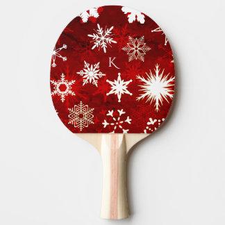 Festive Christmas snowflakes Ping Pong Paddle