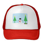 Festive Christmas Snowman Mesh Hats