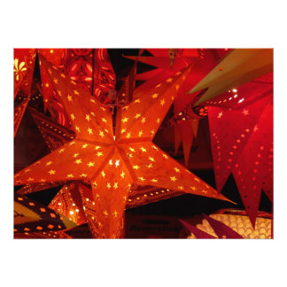 Festive Christmas Stars Custom Invitation