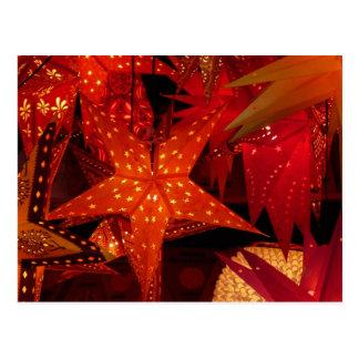 Festive Christmas Stars Postcard