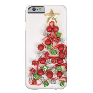 Festive Christmas Tree Barely There iPhone 6 Case
