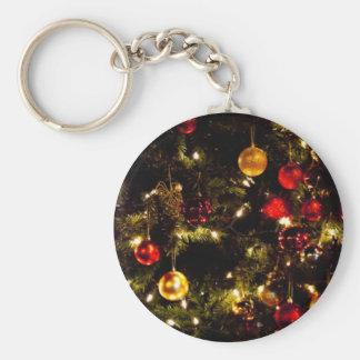 Festive Christmas Tree Key Chains