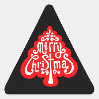Festive Christmas Tree Sticker Envelope Seals