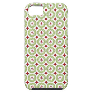 Festive Christmas Wreath and Star Pattern Tough iPhone 5 Case