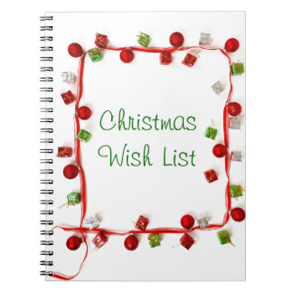 Festive Colorful Christmas Decor Ribbon Gifts Spiral Note Books