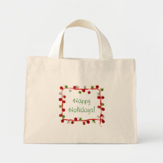 Festive Colorful Christmas Decor Ribbon Small Mini Tote Bag