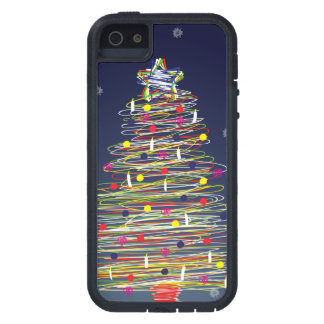 Festive Colorful Christmas Tree (Customize It!) iPhone 5 Cases