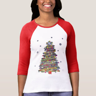 Festive Colorful Christmas Tree (Customize It!) T-Shirt
