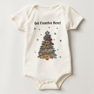 Festive Colorful Christmas Tree (Customize It!) Romper