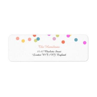 Festive Confetti Wedding Return Address Labels