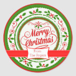 Festive Custom Christmas Stickers