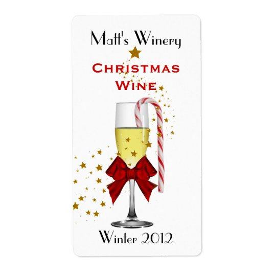 Festive Custom Holiday Wine Labels