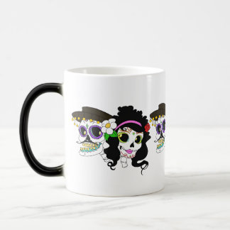 Festive Day of the Dead Art Morphing Mug