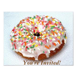"Festive Donut 4.25"" X 5.5"" Invitation Card"