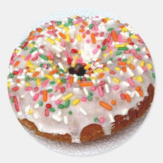 Festive Donut Classic Round Sticker