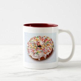 Festive Donut Two-Tone Coffee Mug