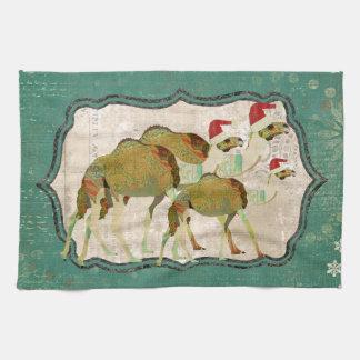Festive Dreamy Camels Kitchen Towel