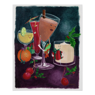 Festive Drinks Poster