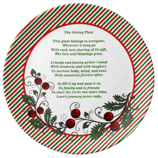 Festive Family & Friends Christmas Giving Plate