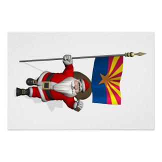 Festive Father Christmas Visiting Arizona