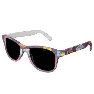Festive Floating Tile Artwork Sunglasses