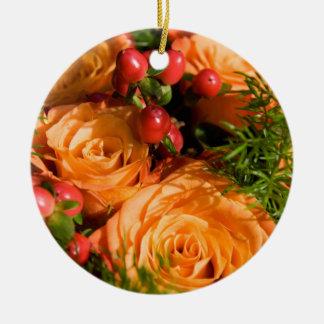 Festive Floral Arrangement Christmas Ornament