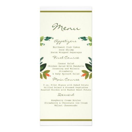 Festive Florals - Cream + Olive / Apple Green Custom Announcements