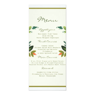Festive Florals - Cream + Olive / Apple Green Custom Announcements