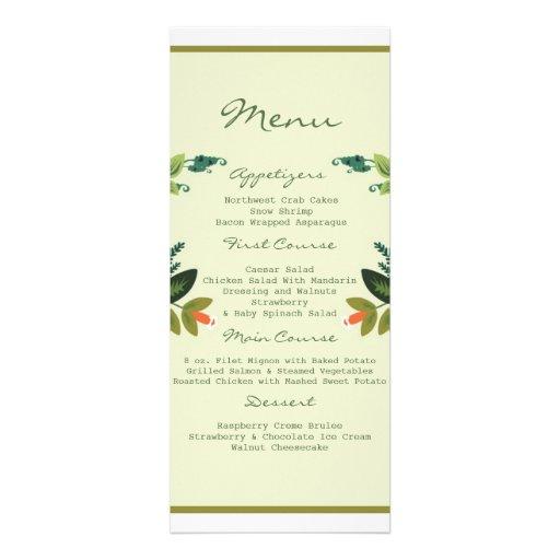 Festive Florals - Pistachio + Olive / Apple Green Personalized Invitations