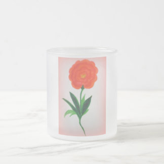 Festive Flower Frosted Glass Coffee Mug