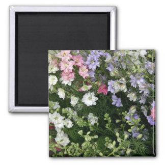 Festive Flower Garden Square Magnet