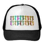FESTIVE Flower Pattern : HAPPY HOLIDAYS Trucker Hat