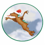 Festive Flying Chupacabra Ornament Photo Sculpture Decoration