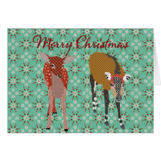 Festive Forest Friends II Christmas Greeting Greeting Card