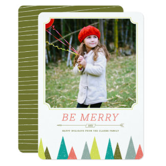 Festive Forest Holiday Photo Cards
